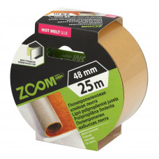 Dvipusė polipropileninė juosta, 48 mm x 25 m, ZOOM