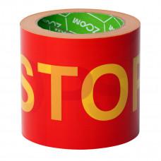 "Įspėjamoji juosta ""STOP"" 100 mm x 100 m, geltona-raudona, ZOOM"