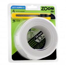Vonios sandarinimo juosta 19 x 19 mm x 3.2 m, balta su peiliuku, ZOOM
