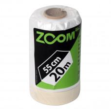 Polietileninė uždanga su dažymo juostele, 550 mm x 20 m, ZOOM