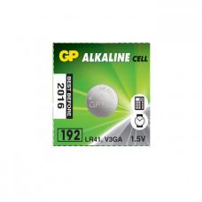 Galvaninis elementas GP 192 alkaline, AG3 (1,5V) 10 vnt.