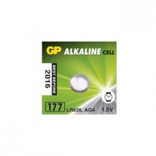 Galvaninis elementas GP 177 alkaline, AG4 (1,5V) 10 vnt.