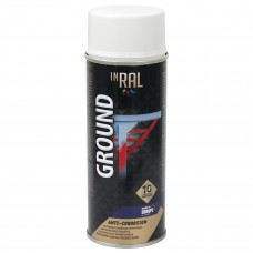 INRAL GROUND, baltas RAL9003, gruntas aerozoliniai antikoroz.