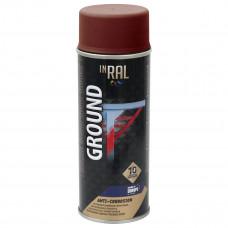 INRAL GROUND, raudonas RAL3009, gruntas aerozoliniai antikoroz.