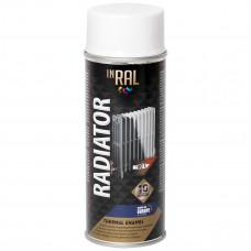 Aerozoliniai dažai radiatoriams, RADIATOR, baltas, INRAL