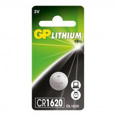 Galvaninis elementas GP LITHIUM CR1620 (3V) 5 vnt.