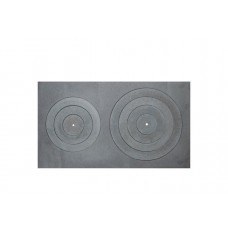 Viryklės plokštė dviejų skylių 700x400mm A16