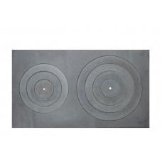 Viryklės plokštė dviejų skylių 800x450mm A17