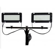 Laikiklis LED šviestuvams + šviestuvai 2x40W (2x4000lm) 6400K (aukštis 83-170cm)