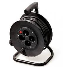 Prailgintojas GTV su juoda plastikine rite, 4 lizdai, 3x1.5mm, 30m