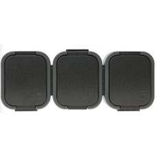 Kištukinis lizdas 3 vietų, IP44 16A pilkas/juodas ABEX
