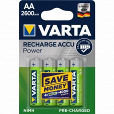 Įkraunami elementai VARTA R06, AA, 2600mAh-4BL, 4 vnt.