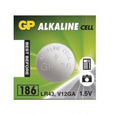 Galvaninis elementas GP 186 alkaline, AG12 (1,5V) 10 vnt.