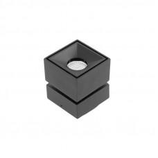 Šviestuvas kvadratinis juodas 8W, 4K, 680lm, IP20 BIANCO GTV