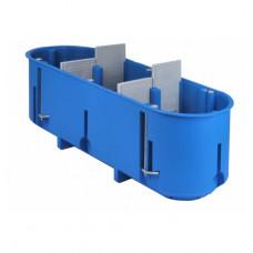 Montažinė dėžutė SIMET P3x60D, GK, gili, 960*, triguba, mėlyna