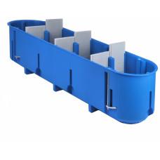 Montažinė dėžutė SIMET P4x60D, GK, gili, 960*, keturių vietų, mėlyna