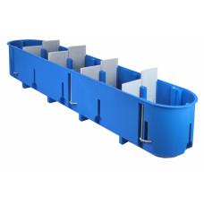 Montažinė dėžutė SIMET P5x60D, GK, gili, 960*, penkių vietų, mėlyna