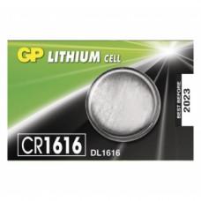Galvaninis elementas GP LITHIUM CR1616 (3V) 5 vnt.