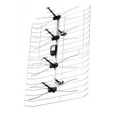 TV antena lauko tinklinė su stiprintuvu