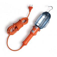 Pernešamas šviestuvas E27, 5m, oranžinis, guminis
