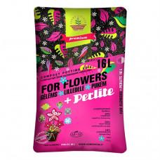 Kompostinė žemė gėlėms su perlitu, 16 l