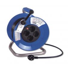 Prailgintojas su mėlyna plastikine rite, 4 lizdai, 3x1.5mm, 25m