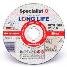 Metalo pjovimo diskas LONG LIFE 125x1,6x22 mm