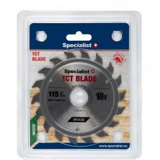 Pjovimo diskas 115x18Tx22 mm