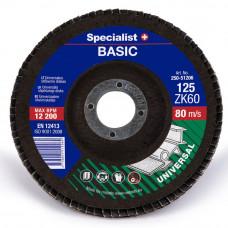 Lapelinis šlifavimo diskas BASIC 125 ZK60