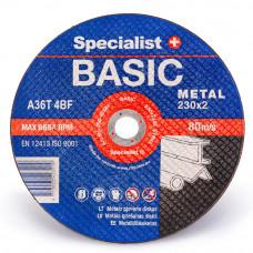 Met.pj. diskas BASIC 230x2x22 mm