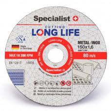 Metalo pjovimo diskas LONG LIFE 150x1,6x22 mm