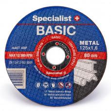 Met.pj. diskas BASIC125x1,6x22 mm