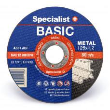 Met.pj. diskas BASIC 125x1,2x22 mm