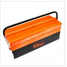Metal. įrankių dėžė 3 sk., 430 mm