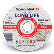 Metalo pjovimo diskas LONG LIFE 125x1x22 mm