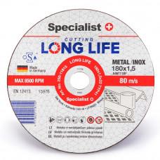 Metalo pjovimo diskas LONG LIFE 180x1,5x22 mm