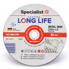 Metalo pjovimo diskas LONG LIFE 230x1,9x22 mm