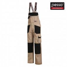 Darbo puskombinezonis Pesso Twill, smėlio 54/200