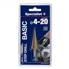 Specialist Basic Žingsninis grąžtas 4-20 mm