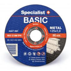Met.pj. diskas BASIC 125x1x22 mm