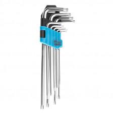 Šešiakampių raktų rinkinys T10-T50 itin ilgi, 9 vnt.