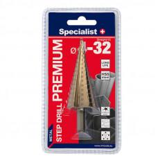 Specialist Premium Žingsninis grąžtas 4-32 mm