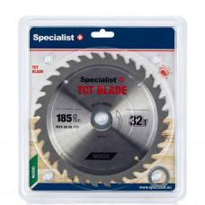 Pjovimo diskas 185x32Tx30/20/16 mm