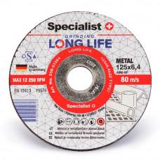 Šlif. diskas LONG LIFE 125x6,4x22 mm