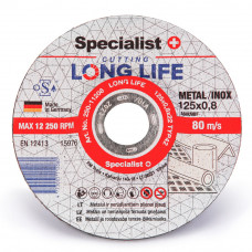 Metalo pj.diskas LONG LIFE 125x0,8x22 mm