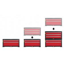3 stalčių įrankių stelažas