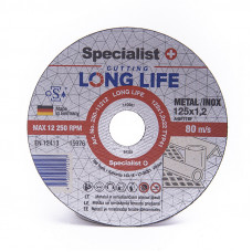 Metalo pj.diskas LONG LIFE 125x1,2x22 mm