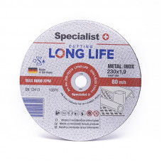 Metalo pj.diskas LONG LIFE 230x1,9x22 mm