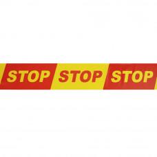 STOP juosta 100m x 100mm raudona/geltona