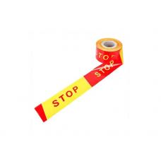"""Signalinė juosta su užrašu """"STOP"""" 100m rulonas"""